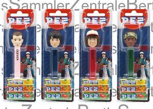 PEZ-STRANGER-THINGS-set-of-4-Mint-on-Card