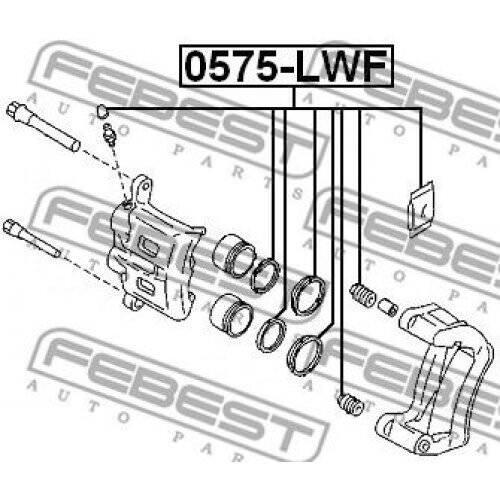 FEBEST Repair Kit brake caliper 0575-LWF