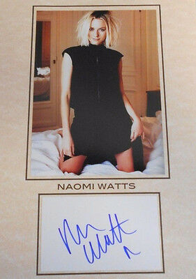 Hand Signed Card W/photo Naomi Watts 8.5 X 11 Total Size W/coa