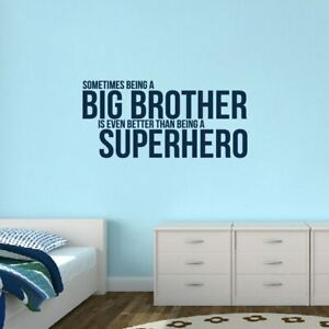 Details about Big Brother Wall Decal - Kids, Nursery, Baby, Bedroom, Wall  Sticker, Decor