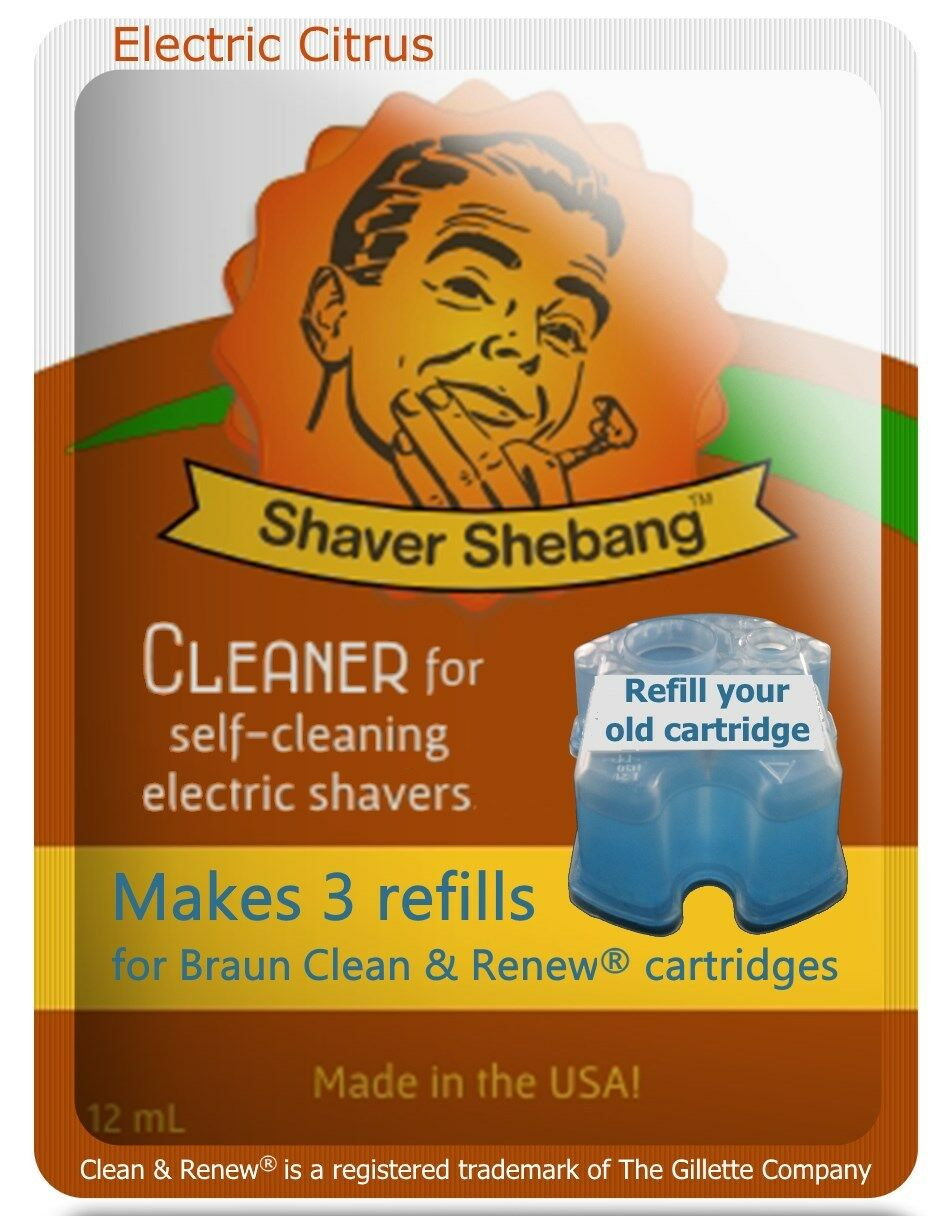 6 Refills for Braun Clean & Renew® cartridges =2xShaver She