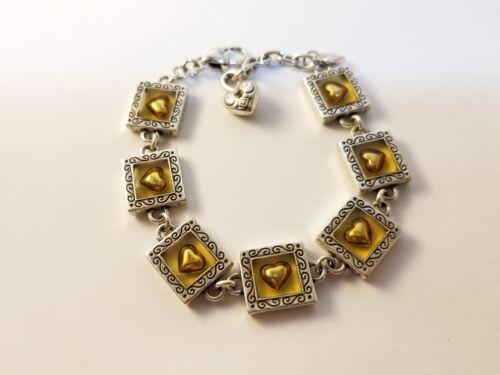 BRIGHTON Two-Tone Square Heart  Bracelet