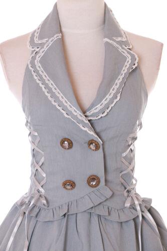Westen Gótico Vintage kleid Cosplay 30 Retro Jsk Gris Rockabilly Lolita 1 wRnBTqU