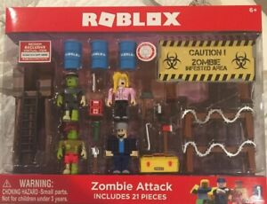 Roblox Zombie Attack Playset 21pc Limited 3 Kids Toys Figures New
