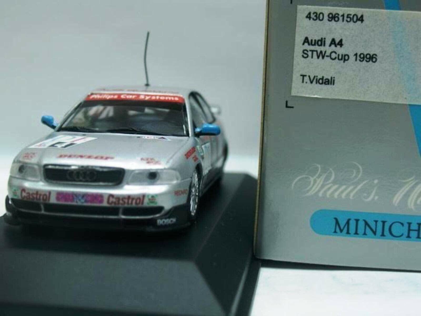 Wow extrêmement rarei A4 Quattro 1996 Vidali Nurburgring STW 1 43 Minichamps