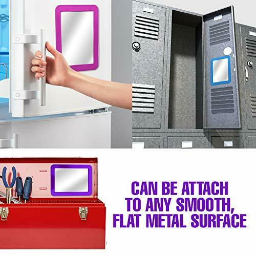 "For School-Gym-Office-Makeup etc 5/"" x 7/"" White Magnetic Locker Mirror"
