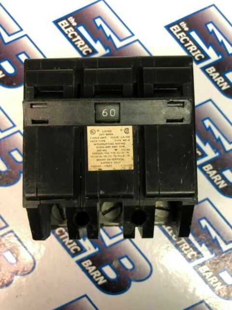 3 Pole 60A Circuit Breaker Crouse-Hinds Type MP-A