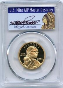 2004-S-1-Sacagawea-Dollar-PCGS-PR70DCAM-Thomas-Cleveland-Population-9