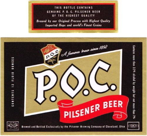 POC Pilsener Beer 12oz  Pilsener Brewing Co Cleveland OH Tavern TRove