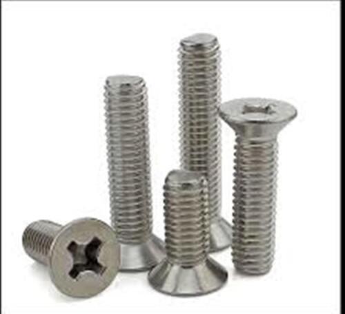 "Stainless Steel Flat Head Phillips Machine Screws #6-32 x 1//2/"" Qty-100"