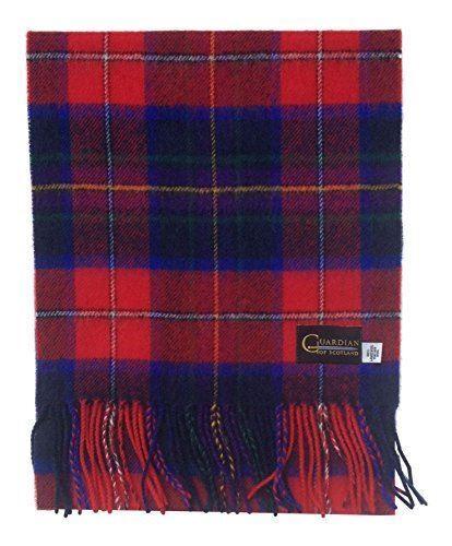 Guardiano di Scozia Tartan moderno Sciarpa di lana d/'agnello