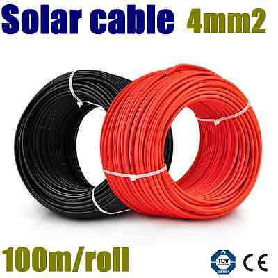 6mm Single Core Solar Power Cable Photovoltaic Per 30 Meters varied postage 30m