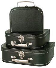 3PCS Luggage Travel Set Vintage Style BLACK Suitcase Travel Storage Outdoor Gift