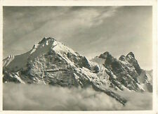 Säntis Alpes Alps Schweiz Switzerland Suisse Zeppelin Airship IMAGE CARD 30s