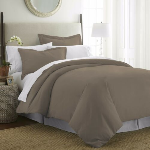 Wrinkle Free The Home Collection Premium Quality 3 Piece Duvet Cover Set