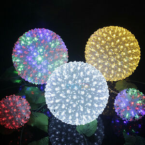 Charming 50 led flower ball fairy lights christmas wedding party image is loading charming 50 led flower ball fairy lights christmas aloadofball Choice Image