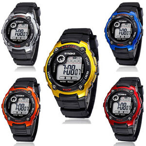 Fille-Pour-garcons-Montre-De-Sport-LED-Digital-Quartz-Enfants-etanche