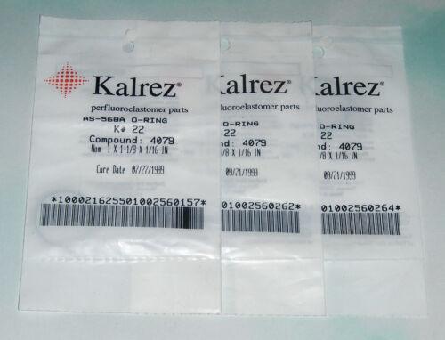 LOT 3 KALREZ CPD 4079 O-RING AS-568 K# 22 022 1 x 1-1//8 x 1//16 AMAT 3700-01473
