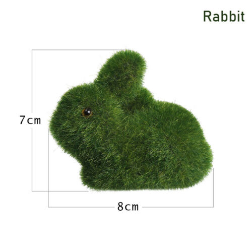 Potted Plant Handmade Room Decor Home Artificial Turf Grass Animal Ornament#