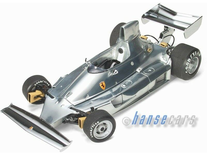 Exoto Ferrari 312-t 1975 50th meaning, Polished Aluminum