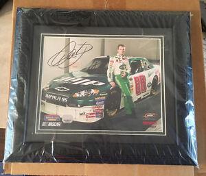 Dale-Earnhardt-Jr-Signed-Framed-Photo-Nascar-12-5-034-x-14-5-034-Numbered-Hologram