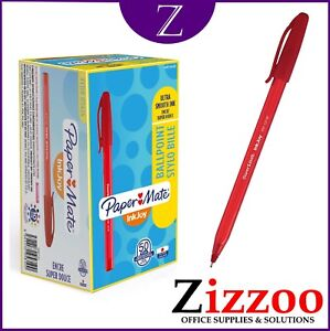 RED PENS PAPERMATE INKJOY 100 BALLPOINT PENS 1MM LINE RED BOX OF 50