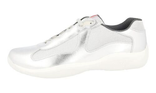43 Americas Prada 43 Nieuw 5 Sneaker Cup 9 Zilver Schoenen Ps0906 Luxe XPTuwZiOk