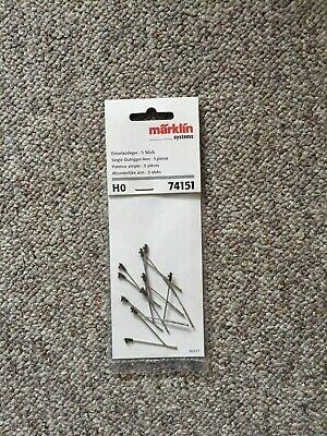 74151 Märklin, Singolo Braccio Inh. 5 Pezzi, Nuovo Da Risoluzione Aziendale-sung It-it Mostra Il Titolo Originale Forma Elegante