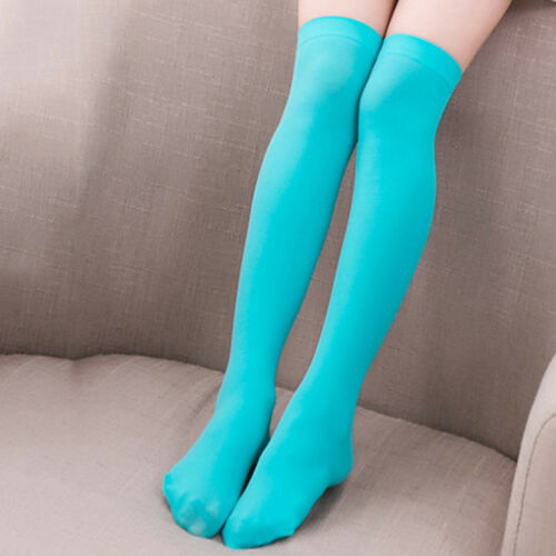 1Pair Candy Color Girls Ladies Thigh High Over Knee Long Cotton Warm Stockings