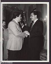 VINTAGE PRESS PHOTO / GOV. RAFAEL HERNANDEZ COLON / PUERTO RICO / 1980's / #4