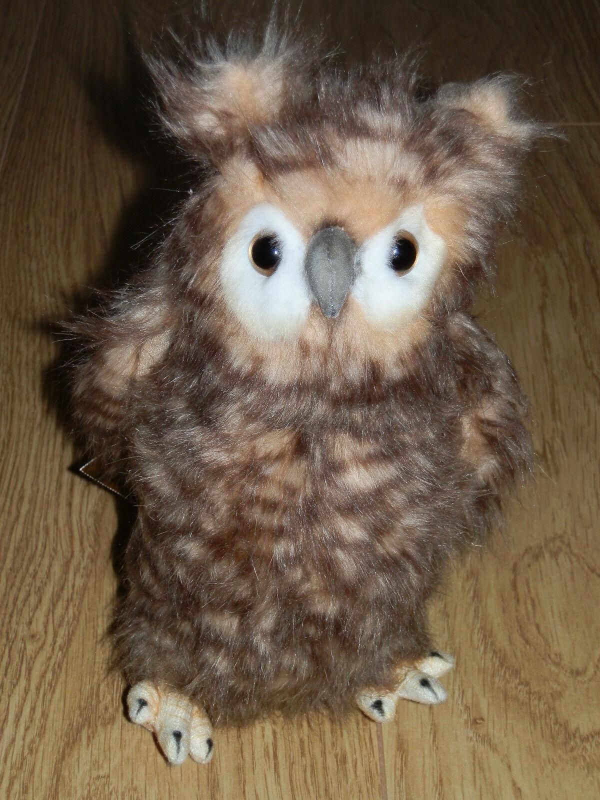 Hansa OWL Collectible Soft Toy ( Art 4465 Owl Moving Head 24cm High)