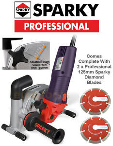 SPARKY-1400w-5-034-125mm-Diamond-Wall-Chaser-Chasing-Machine-Grinder-FK302-240v
