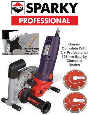 "SPARKY 1400w 5""/125mm Diamond Wall Chaser/Chasing Machine Grinder, FK302, 240v"