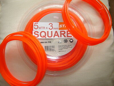2X5MTR 2.4mm GENUINE STIHL SQUARE STRIMMER TRIMMER CORD LINE  MOST STRIMMERS