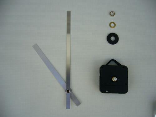 Couple élevé de mouvement d/'horloge courte fusée 170mm mains en métal argenté