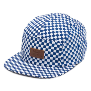Vans DAVIS 5 Panel Camper Hat  NEW Mens Cap BLUE CHECKERS ... d3b5d8f3fd3c