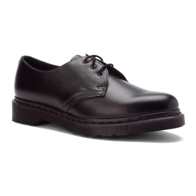 New Dr. Martens 1461 3 Eye Shoe Black Smooth UK 6 12