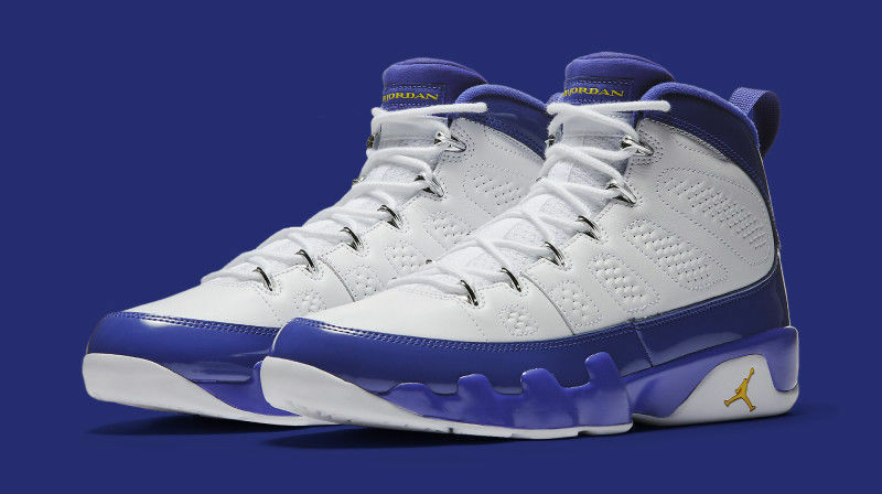 Nike Air Jordan 9 IX Retro Lakers Kobe Bryant PE Size 7.5. 302370-121 playoff