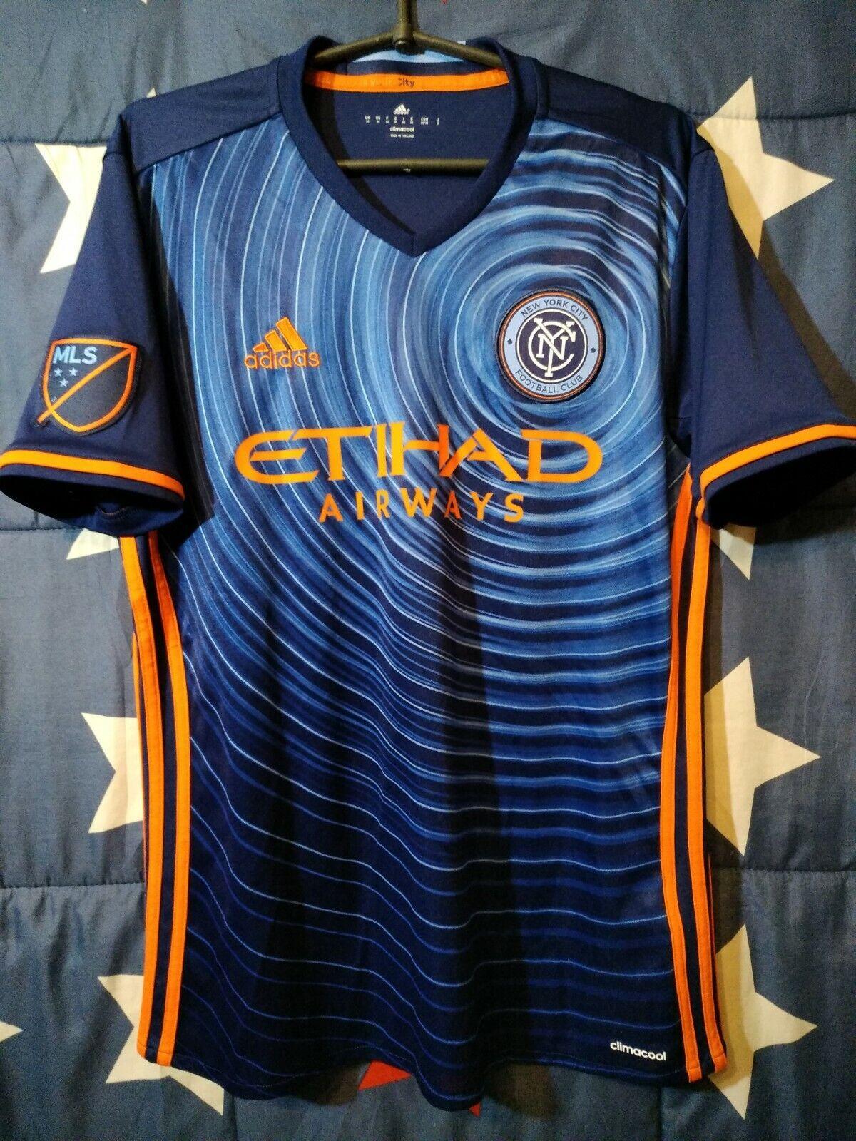 Taglia M NEW YORK CITY FC 20162017 AWAY FOOTBALL SHIRT JERSEY Adidas