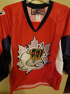 Image is loading VICTORIA-SALMON-KINGS-ALT-RED-HOCKEY-JERSEY-SIZE- 576ee09bcc3