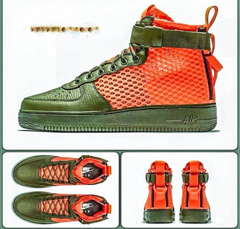 SF Nike Air Force 1 & MID QS cargo Khaki & 1 carmesí Raro!!! f84ec9