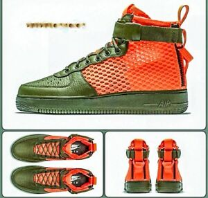 Details about NIKE SF AIR FORCE 1 MID QS CARGO KHAKI & TOTAL CRIMSON Size 8 RARE!!!