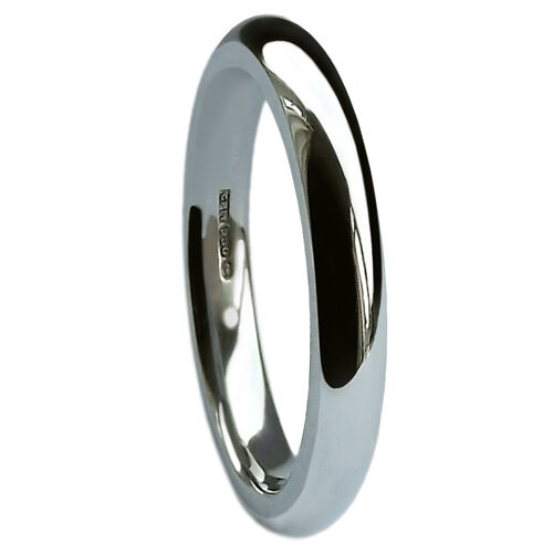 3mm 925 UK HM Sterling Silver Wedding Rings Court Profile 3.3//3.9g Heavy Bands