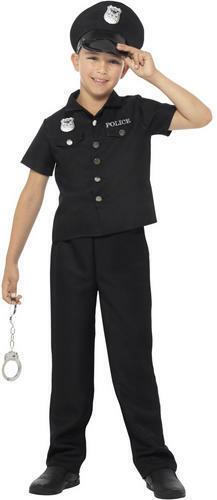 manette ABITO FANTASIA RAGAZZI ci AGENTE DI POLIZIA PER BAMBINI COSTUME DA BAMBINO American poliziotta