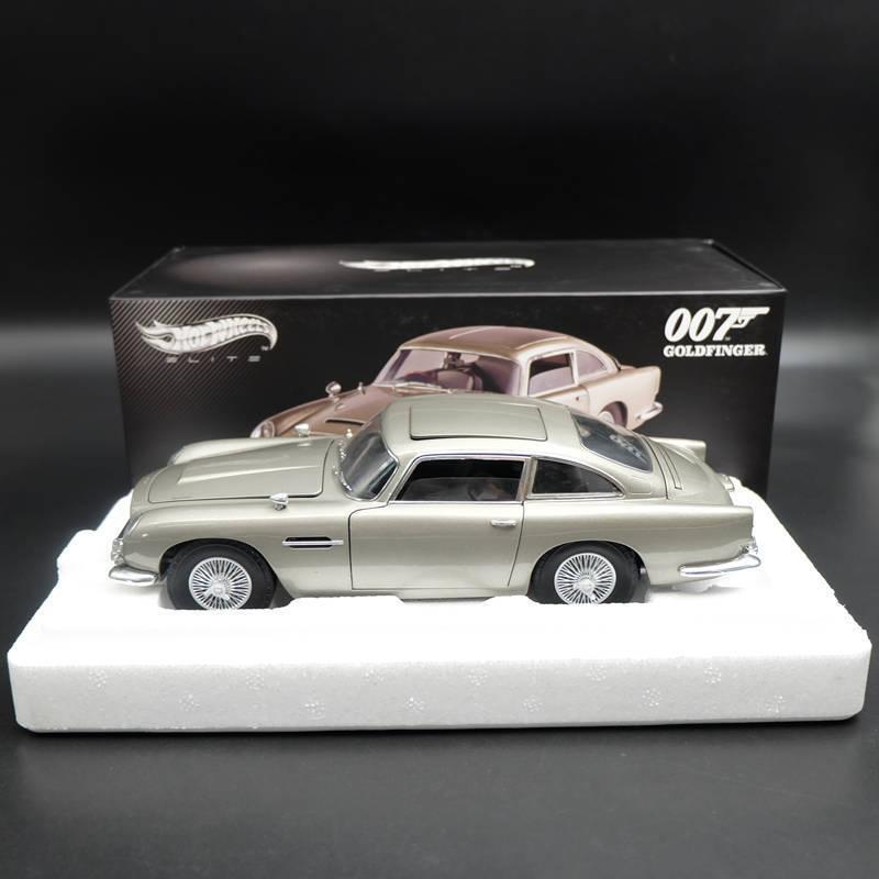 1:18 Hotwheels ELITE Aston Martin DB5 Goldfinger 007 JAMES BOND BLY20 Diecast