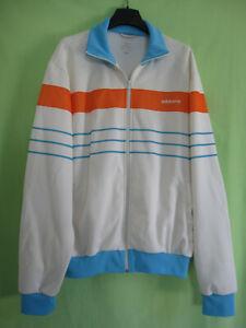 Détails sur Veste Adidas Originals Blanche et orange Jacket Homme style vintage XL