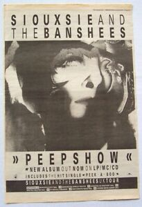 SIOUXSIE-AND-THE-BANSHEES-1988-POSTER-ADVERT-PEEPSHOW