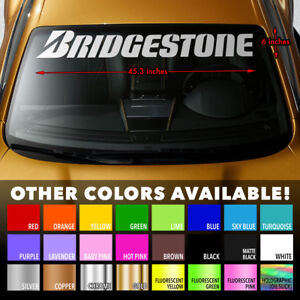 BRIDGESTONE-TIRES-Premium-Windshield-Banner-Vinyl-Decal-Sticker-45-3x6-034