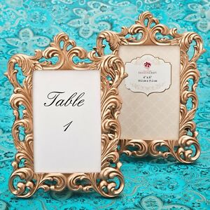 25 Rose Gold Table Number Frames Wedding Shower Reception Party Gift