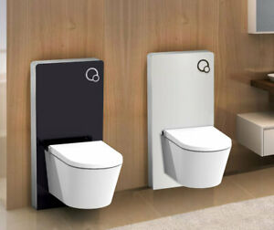 Glas-Sanitaermodul-fuer-Wand-WC-Vorwandelement-Spuelkasten-Montageelement